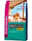Eukanuba корм для взрослых собак мел. пород курица 1кг