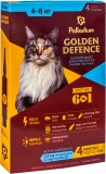 Средства от блох для кошек - Palladium Golden Defence капли на холку для котов весом от 4 до 8 кг, 1 пипетка