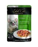 Edel Cat влажный корм для кошек ИНДЕЙКА И УТКА в соусе (100 г) пауч