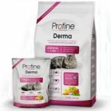 Сухой корм для кошек - PROFINE Cat Derma 3 кг, лосось д/длинношерст.