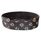 Trixie Лежак для собак Jimmy (75х65 см) темно-серый с лапками
