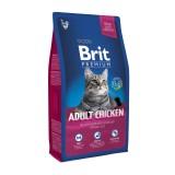 Brit Premium Cat Adult Chicken (1,5 кг) сухой корм с курицей для взрослых кошек всех пород