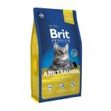 Brit Premium Cat Adult Salmon (1,5 кг) сухой корм с лососем для взрослых кошек всех пород