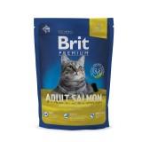Brit Premium Cat Adult Salmon (800 г) сухой корм с лососем для взрослых кошек всех пород