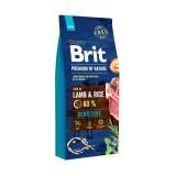 Brit Premium Sensitive Lamb & Rice (15 кг) cухой корм для собак с чувствительным пищеварением
