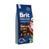 Brit Premium Light Turkey & Oats (15 кг) cухой корм для собак с избыточным весом