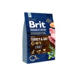 Brit Premium Light Turkey & Oats (3 кг) cухой корм для собак с избыточным весом
