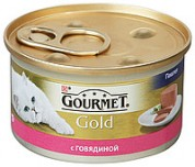 Gourmet Gold Gourmet Gold (Гурме Голд). З яловичиною. Для котят 85г