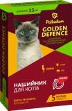 Palladium Golden Defence Ошейник противопаразитарный (пропоксур) для кошек, 35 см красный
