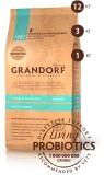 Grandorf 4 ВИДА МЯСА С БУРЫМ РИСОМ ДЛЯ ВСЕХ ПОРОД (СУХОЙ НИЗКОЗЕРНОВОЙ КОРМ КЛАССА ХОЛИСТИК С ЖИВЫМИ ПРОБИОТИКАМИ) 3 кг