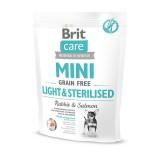 Brit Care GF Mini Light&Sterilised (400 г) сухой корм с кроликом для стерилизованных собак и собак с лишним весом миниатюрных пород