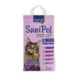 Природа Наполнитель бентонитовый SANI PET для кошек с лавандой средний (5 кг)