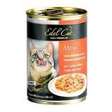 Edel Cat влажный корм для кошек ТРИ ВИДА МЯСА ПТИЦЫ (400 г) консерва