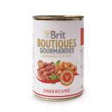 Brit Care влажный корм для собак Boutiques Gourmandes кусочки курицы в паштете (400 г)