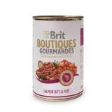 Brit Care влажный корм для собак Boutiques Gourmandes кусочки лосося в паштете (400 г )