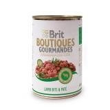 Brit Care влажный корм для собак Boutiques Gourmandes кусочки ягненка в паштете (400 г)