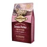 Carnilove Сухой корм для здорового роста котят Salmon & Turkey Kitten (2 кг) с лососем и индейкой
