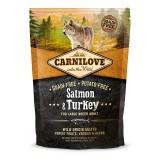 Carnilove Сухой корм для взрослых собак крупных пород весом от 25 кг Adult Large Salmon & Turkey (1,5 кг) с лососем и индейкой