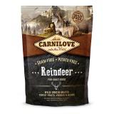 Carnilove Сухой корм для взрослых собак всех пород Adult Raindeer (1,5 кг) с мясом северного оленя