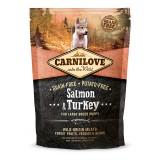 Carnilove Сухой корм для щенков крупных пород и молодых собак Puppy Large Salmon & Turkey (1,5 кг) с лососем и индейкой