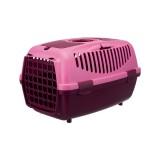 Trixie Переноска для собак Capri 2 (размер XS-S: 37х34х55 см, до 8 кг) фиолетовый / розовый