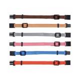 Trixie Набор ошейников для щенков (размер M-L: 22-35 см / 10 мм; 6 штук: коричневый, бежевый, серебристый, розовый, голубой, оранжевый)