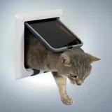 """Trixie Дверца для кошек """"Luxe"""" (белая, двусторонняя, врезная)"""