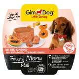 """Gimpet Влажный корм для собак """"Рагу из говядины с папайей"""" паштет Gimdog Fruity Menu (100 г)"""