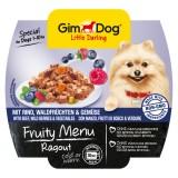 """Gimpet Влажный корм для собак """"Рагу из говядины, лесных ягод и овощей"""" кусочки Gimdog Fruity Menu (100 г)"""