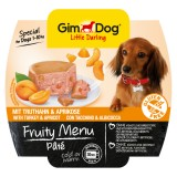 """Gimpet Влажный корм для собак """"Рагу из индейки с абрикосом"""" паштет Gimdog Fruity Menu (100 г)"""