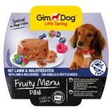 """Gimpet Влажный корм для собак """"Рагу из ягненка с лесными ягодами"""" паштет Gimdog Fruity Menu (100 г)"""