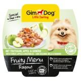 """Gimpet Влажный корм для собак """"Рагу из индейки, яблок и овощей"""" кусочки Gimdog Fruity Menu (100 г)"""