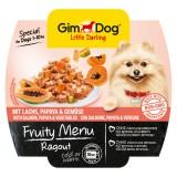 """Gimpet Влажный корм для собак """"Рагу из лосося, папайи и овощей"""" кусочки Gimdog Fruity Menu (100 г)"""