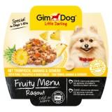 """Gimpet Влажный корм для собак """"Рагу из тунца, ананаса и овощей"""" кусочки Gimdog Fruity Menu (100 г)"""