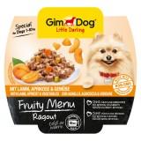 """Gimpet Влажный корм для собак """"Рагу из ягненка, абрикоса и овощей"""" кусочки Gimdog Fruity Menu (100 г)"""