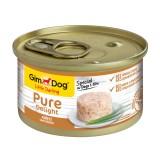 """Gimpet Влажный корм для собак """"Цыпленок"""" кусочки в желе Gimdog Pure Delight (85 г)"""
