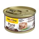 """Gimpet Влажный корм для собак """"Цыпленок с говядиной"""" кусочки в желе Gimdog Pure Delight (85 г)"""