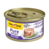 """Gimpet Влажный корм для собак """"Цыпленок с тунцом"""" кусочки в желе Gimdog Pure Delight (85 г)"""