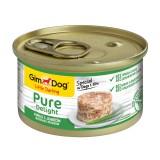 """Gimpet Влажный корм для собак """"Цыпленок с ягненком"""" кусочки в желе Gimdog Pure Delight (85 г)"""