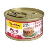 """Gimpet Влажный корм для собак """"Тунец с говядиной"""" кусочки в желе Gimdog Pure Delight (85 г)"""