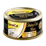 """Gimpet Влажный корм для кошек """"Цыпленок с манго"""" кусочки в желе Gimcat ShinyCat Filet (70 г)"""