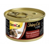 """Gimpet Влажный корм для кошек """"Курица, креветка и мальт"""" кусочки в желе Gimcat ShinyCat (70 г)"""