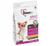1st Choice Сухой корм для взрослых собак малых и миниатюрных пород Toy & Small Adult Lamb & Fish ягненок и рыба (0,35 кг)