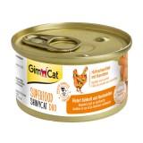 """Gimpet Влажный корм для кошек """"Курица и морковь"""" паштет GimCat Superfood ShinyCat DUO (70 г)"""