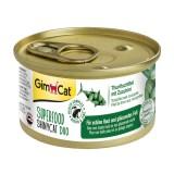 "Gimpet Влажный корм для кошек ""Филе тунца с цуккини"" GimCat Superfood ShinyCat DUO (70 г)"