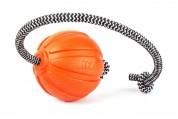 Collar Мячик ЛАЙКЕР 7 Корд на шнуре, диаметр 7 см