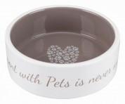 """Trixie Миска для собак """"Pet's Home"""", 0.8 л/ 16 см,керамика, Цвет:кремовая/бежевая"""