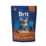 Brit Premium Cat Indoor (300 г) сухой корм с курицей для домашних взрослых кошек всех пород