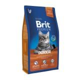Brit Premium Cat Indoor (1,5 кг) сухой корм с курицей для домашних взрослых кошек всех пород
