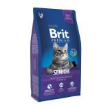 Brit Premium Cat Senior (8 kг) сухой корм с курицей для пожилых кошек всех пород